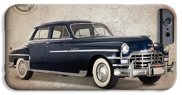 Chrysler iPhone Cases - Chrysler New Yorker 1949 iPhone Case by Mark Rogan