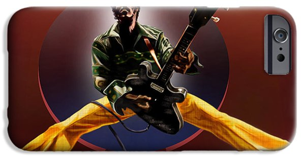 Super Stars iPhone Cases - Chuck Berry - This Is How we Do It iPhone Case by Reggie Duffie