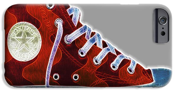 Tennis Shoes iPhone Cases - Chucks iPhone Case by Cheryl Young