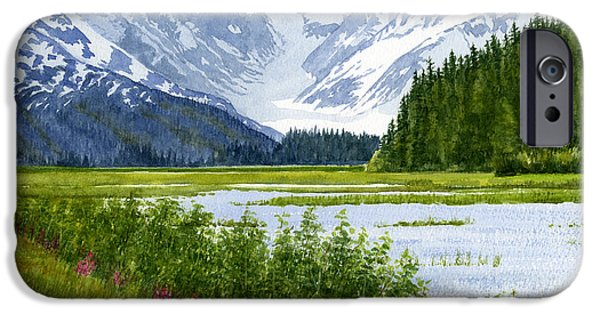 Alaska iPhone Cases - Chugach Glacier View iPhone Case by Sharon Freeman