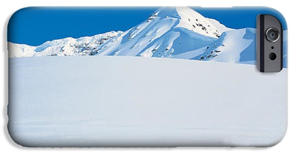Snowy Day iPhone Cases - Chugach Mountains Girdwood, Alaska, Usa iPhone Case by Panoramic Images