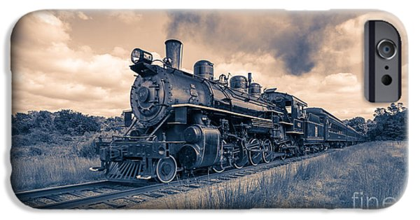 Deep River iPhone Cases - Full Steam through The Meadow iPhone Case by Edward Fielding