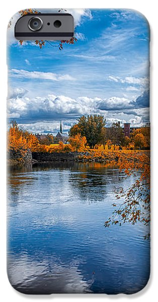 Church Across The River iPhone Case by Bob Orsillo