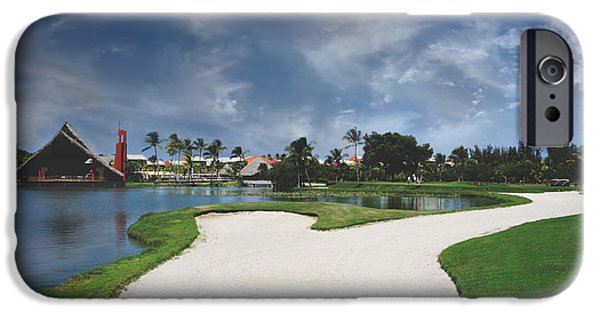 Recreation Building iPhone Cases - Church and Golf iPhone Case by Laurie Search
