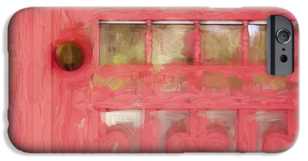 Screen iPhone Cases - Church Camp House Detail Painterly Series 18 iPhone Case by Carol Leigh