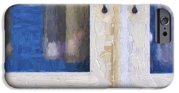 Martha iPhone Cases - Church Camp House Detail Painterly Series 4 iPhone Case by Carol Leigh