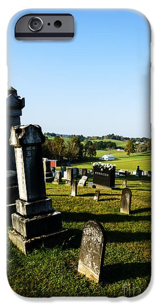 Sutton iPhone Cases - Church Cemetery iPhone Case by Thomas R Fletcher