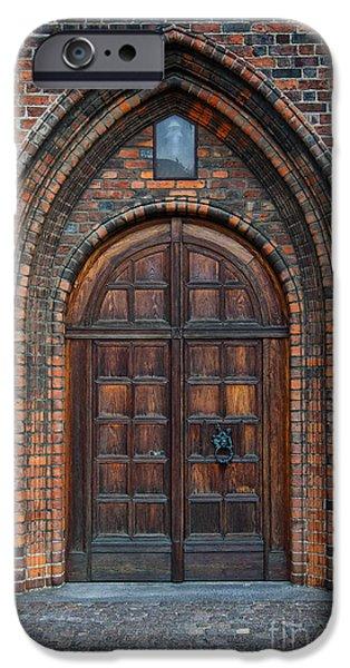Church Door iPhone Case by Antony McAulay