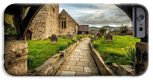 Walkway Digital iPhone Cases - Church Entrance iPhone Case by Adrian Evans