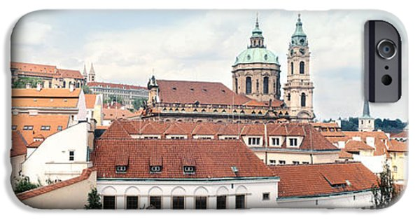 St Nicholas iPhone Cases - Church In A City, St. Nicholas Church iPhone Case by Panoramic Images