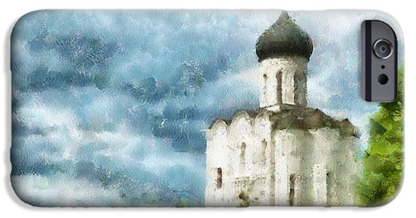 Village iPhone Cases - Church in Summer iPhone Case by Yury Malkov