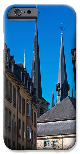 Notre Dame Cathedral iPhone Cases - Church In The City, Notre Dame iPhone Case by Panoramic Images