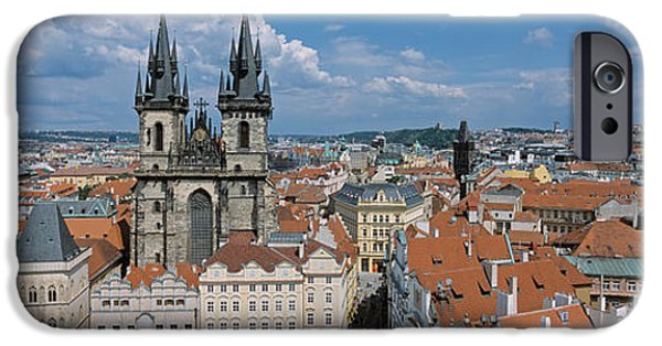 Town Square iPhone Cases - Church Of Our Lady Before Tyn, Old Town iPhone Case by Panoramic Images