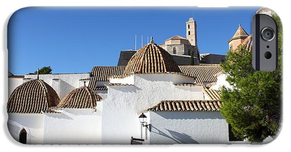 Dalt iPhone Cases - Church of Santo Domingo in Ibiza iPhone Case by Alessandro Russo