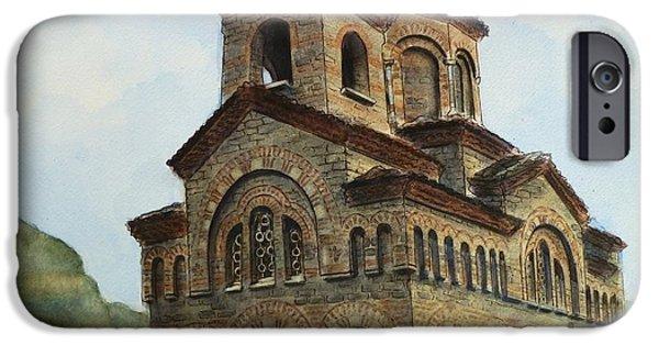 Orthodox Paintings iPhone Cases - Church of St Demetrius of Thessaloniki Veliko Tarnovo Bulgaria iPhone Case by Henrieta Maneva
