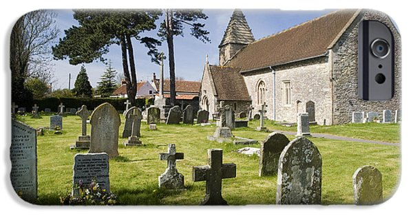 St John The Evangelist Photographs iPhone Cases - Church of St John the Evangelist - Kenn - North Somerset iPhone Case by Robert Down