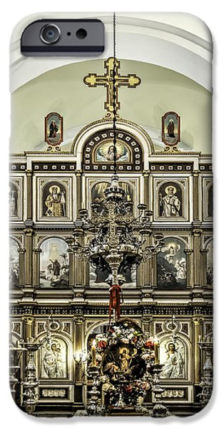 St Nicholas Icon iPhone Cases - Church of St. Nicholas iPhone Case by Maria Coulson