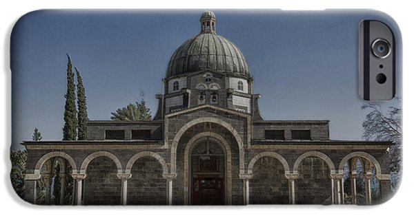 Historic Site iPhone Cases - Church of the Beatitudes iPhone Case by Stephen Stookey