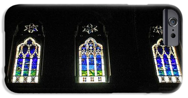 Boston Ma iPhone Cases - Church of the Covenant Stained Glass 2 iPhone Case by Michael Saunders
