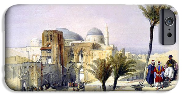 Recently Sold -  - David iPhone Cases - Church of the Holy Sepulchre in Jerusalem iPhone Case by Munir Alawi