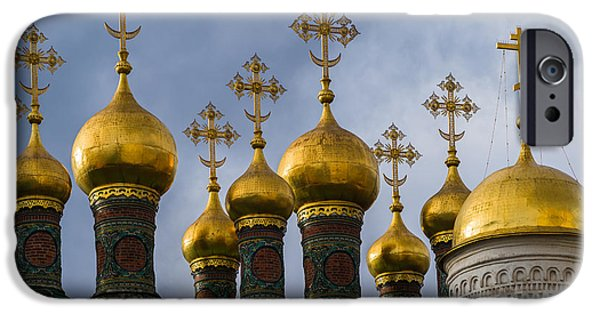 Russian Cross iPhone Cases - Church Of The Nativity Of Moscow Kremlin iPhone Case by Alexander Senin