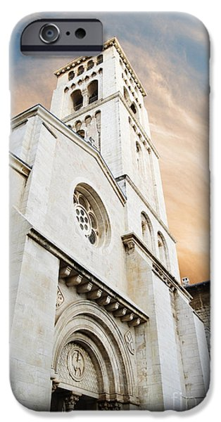 East Pyrography iPhone Cases - Church of the Redeemer in Jerusalem iPhone Case by Jelena Jovanovic