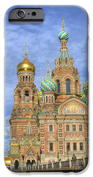Religious iPhone Cases - Church of the Saviour on Spilled Blood. St. Petersburg. Russia iPhone Case by Juli Scalzi