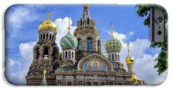 St John The Russian iPhone Cases - Church of the Spilled Blood - St Petersburg Russia iPhone Case by Jon Berghoff