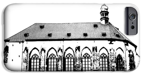 Prague Digital iPhone Cases - Church of the Virgin Mary of Snow iPhone Case by Michal Boubin