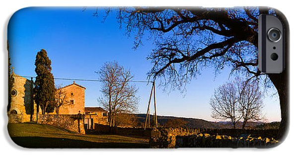 Santa iPhone Cases - Church On A Hill, Santa Coloma iPhone Case by Panoramic Images