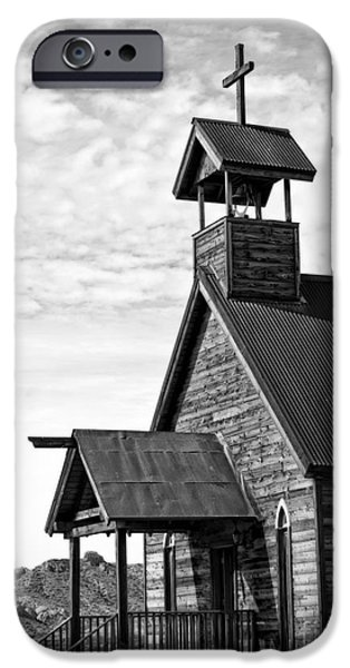 Church on the Mount in Black and White iPhone Case by Lee Craig