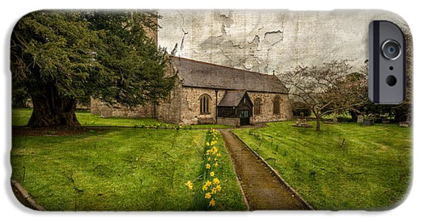 Walkway Digital iPhone Cases - Church Path iPhone Case by Adrian Evans