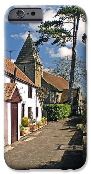 St John The Evangelist Photographs iPhone Cases - Church Path - Kenn - Somerset iPhone Case by Robert Down