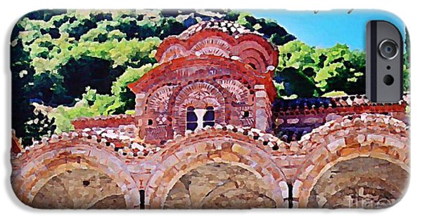 Painter Photo Photographs iPhone Cases - Church Ruins in Greece iPhone Case by John Malone