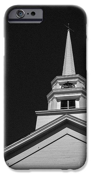 Church Steeple Stowe Vermont iPhone Case by Edward Fielding