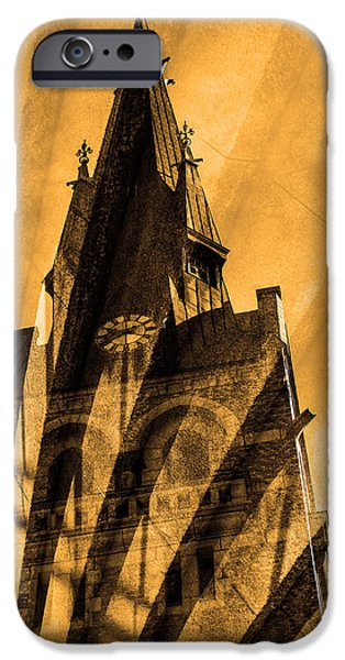 City Scape Mixed Media iPhone Cases - Church iPhone Case by Toppart Sweden
