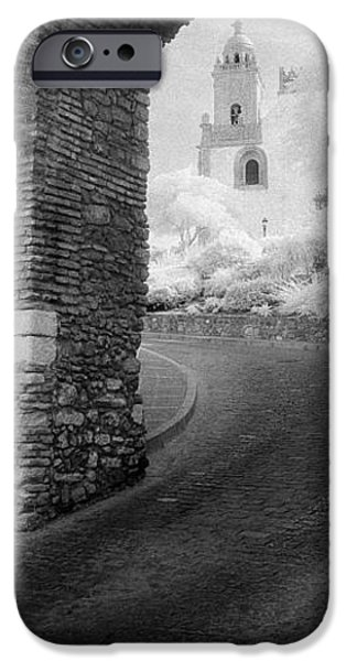 Asphalt iPhone Cases - Church Viewed Through An Archway iPhone Case by Panoramic Images