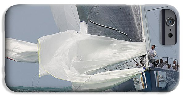 Sailboat Ocean iPhone Cases - Chute 2 iPhone Case by Steven Lapkin