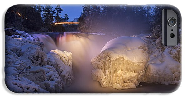 Lumiere iPhone Cases - Chutes Coulonge iPhone Case by Eunice Gibb