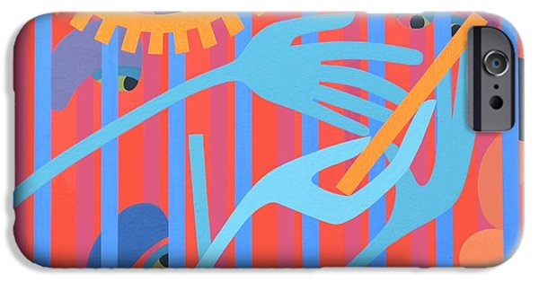 Figure iPhone Cases - Cica, 1966 Acrylic On Board iPhone Case by Ron Waddams