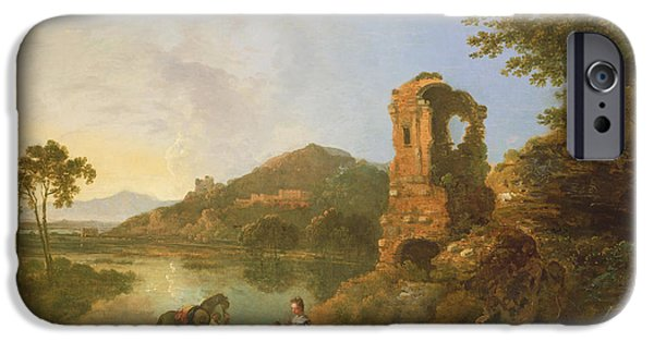 Recently Sold -  - Ruin iPhone Cases - Ciceros Villa Oil On Canvas iPhone Case by Richard Wilson