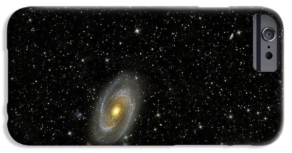 Intergalactic Space iPhone Cases - Cigar Galaxy And Bodes Galaxy iPhone Case by Reinhold Wittich