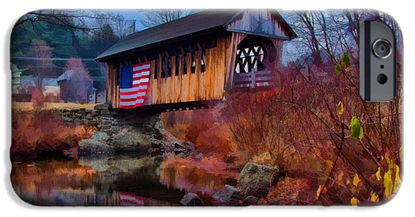 Recently Sold -  - Covered Bridge iPhone Cases - CilleyVille covered bridge iPhone Case by Jeff Folger