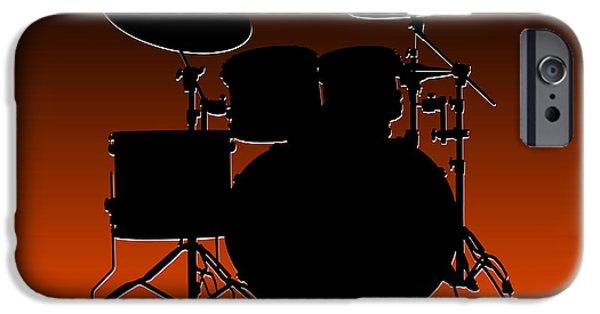 Drum Sets iPhone Cases - Cincinnati Bengals Drum Set iPhone Case by Joe Hamilton