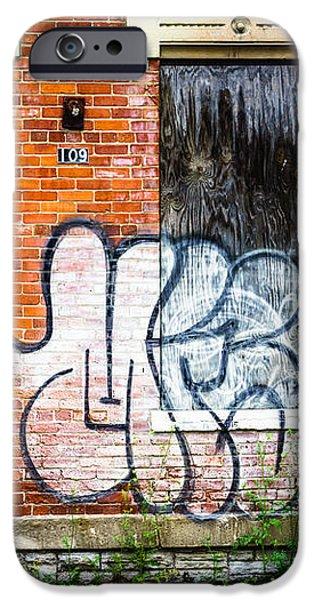 Cincinnati Glencoe Auburn Place Graffiti Picture iPhone Case by Paul Velgos
