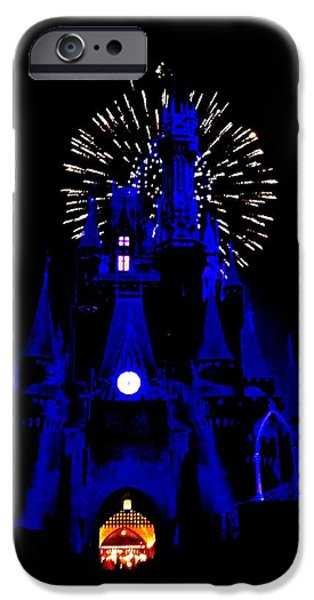 Magic Kingdom iPhone Cases - Cinderella Castle Fireworks iPhone Case by Benjamin Yeager