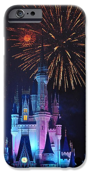 Fireworks Pyrography iPhone Cases - Cinderellas Spark iPhone Case by Brandon Demko