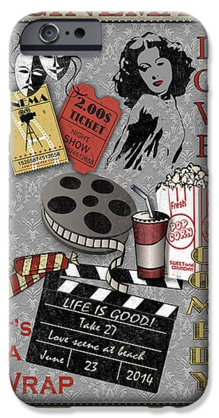 Recently Sold -  - Drama iPhone Cases - Cinema-JP2214 iPhone Case by Jean Plout