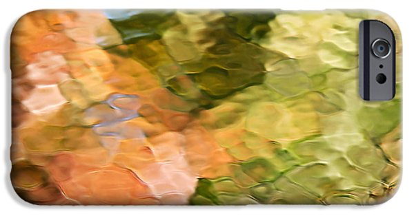 Nature Abstract iPhone Cases - Cinnamon And Spice Mosaic Abstract iPhone Case by Christina Rollo