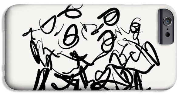 Gestures Drawings iPhone Cases - Circle iPhone Case by Kevin Houchin